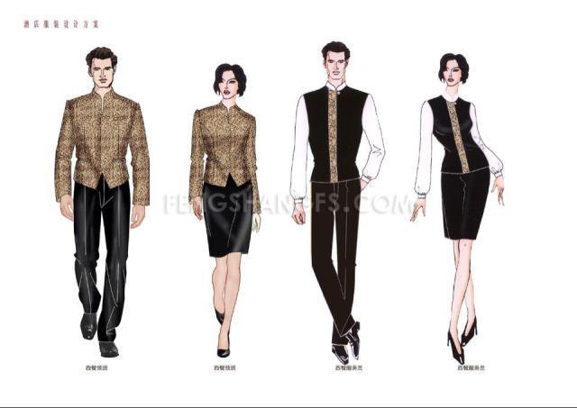 酒店服装设计图稿-5 - 贵阳酒店职业,贵阳酒店管理装
